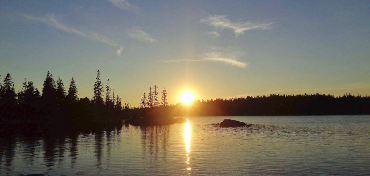 Sunset on Vinalhaven - kirk