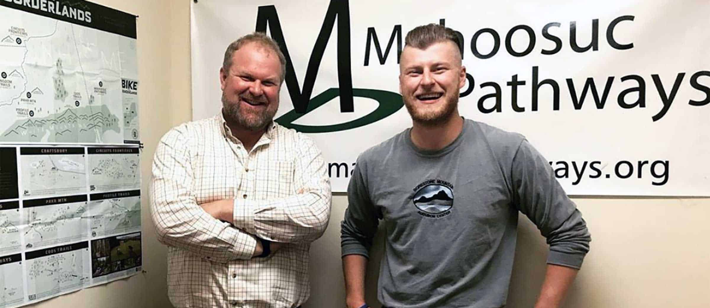 """Jacob says, """"While working for Gabe Perkins, Executive Director of Mahoosuc Pathways, this summer, I was often asked whether I was his younger brother or his son. I normally replied, """"Neither, I'm his dad."""""""