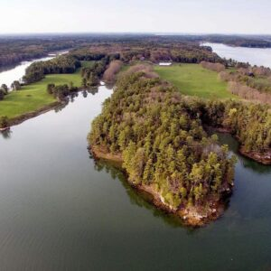 Bird's eye view of Woodward Point, now an MCHT preserve.