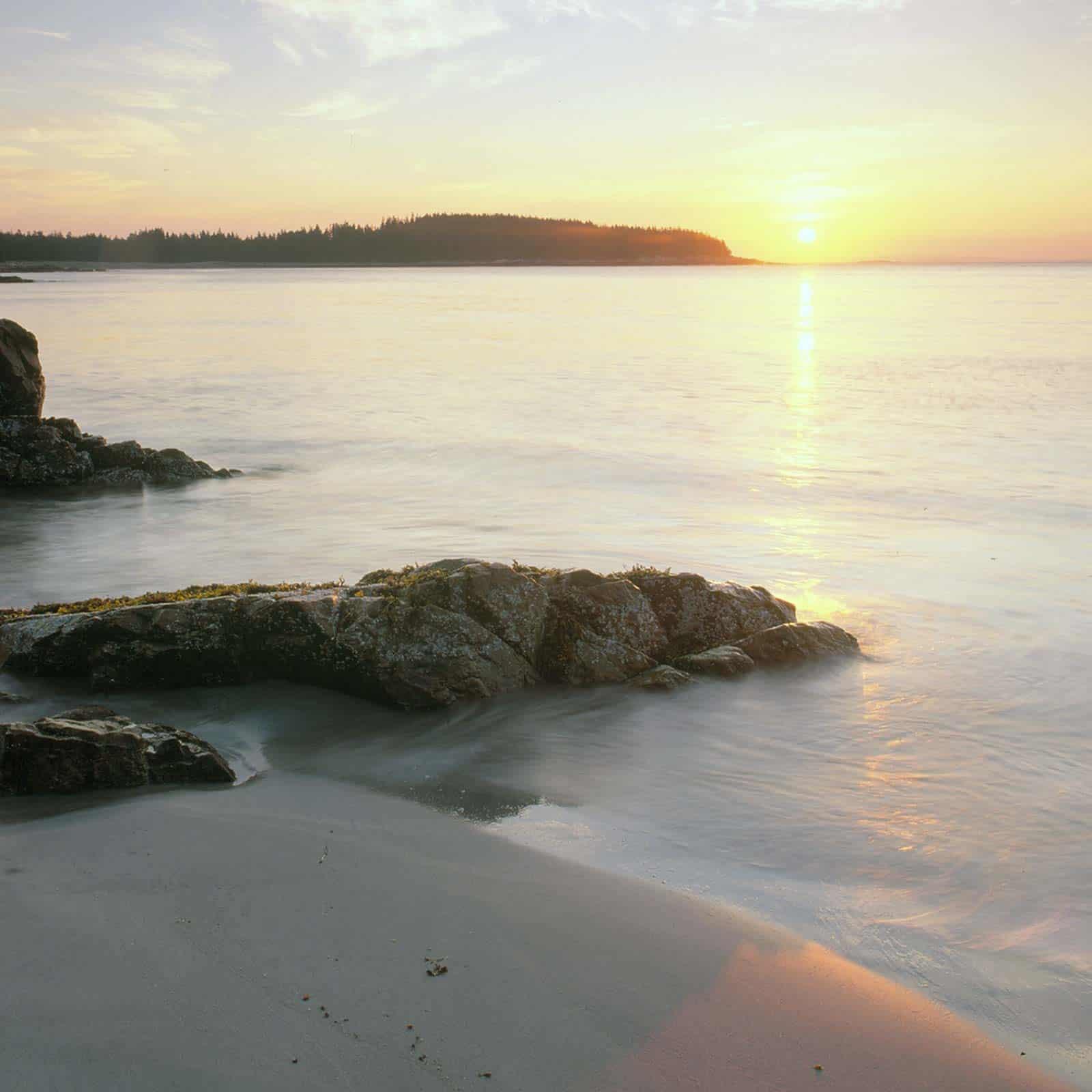 mcht-Sunrise_Over_Beach_on_NE_Side_of_Marshall_Island_Maine_-_2000_-_Sara_Gray-square